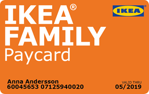 ikea family paycard. Black Bedroom Furniture Sets. Home Design Ideas